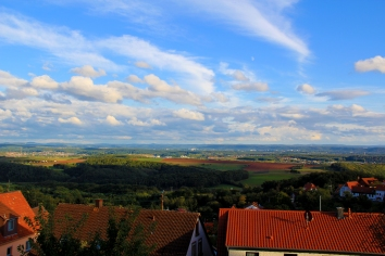 Our view from our balcony in Eulenbis, Rheinland-Pfalz