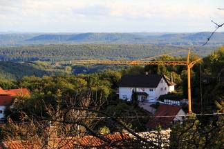 Our view from our balcony in Eulenbis, Rheinland-Pfalz