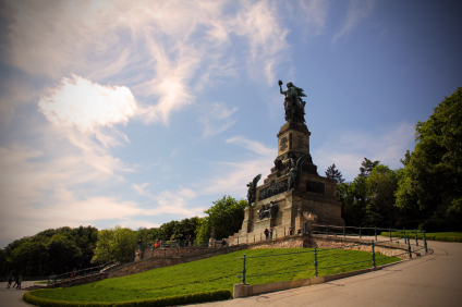 German Statue of Liberty on the Rhine River