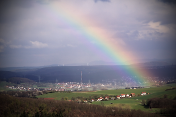 Rainbow over Ramstein, Germany (taken from our balcony)